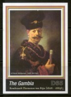 Gambia 2006 Rembrandt Painting A Polish Nobleman Art M/s Sc 3031 MNH # 12714