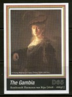 Gambia 2006 Rembrandt Painting Woman In Fancy Dress Art M/s Sc 3033 MNH # 13451