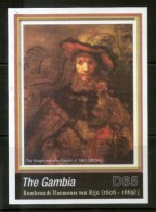 Gambia 2006 Rembrandt Painting The Knight With Falcon Art M/s Sc 3032 MNH # 13446