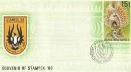 Papua New Guinea 1986  Stampex Prepaid Envelope FDC - Papouasie-Nouvelle-Guinée