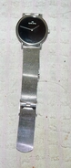 ANCIENNE MONTRE NOIRE ALAIN STILL N°X23L6 / 3 ATM BRACELET MAILLE BON ETAT - Watches: Old