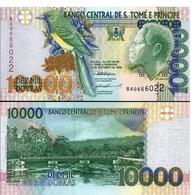 Billet Banque Sao Thomé Et Principe - 10 000 Dobras - Sao Tomé Et Principe