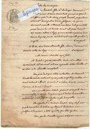 VP5658 - LAGNY  - Acte De 1854  - Entre TROUSSEL Boulanger & BOURETTE  - Vente D'une Vigne Située à DAMPMART - Manuscritos