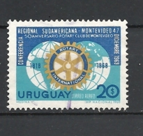 URUGUAY   1969 Airmail - South American Regional Rotary Conference, And 50th Anniversary Of The Rotary Club, MonteviUSED - Uruguay