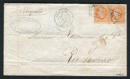 Lettre Du Havre Pour Rio De Janeiro ( 1869 ) !!! - 1849-1876: Période Classique
