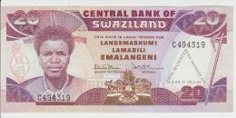 Swaziland 20 Lilangeni 1989 Pick 17 UNC - Swaziland