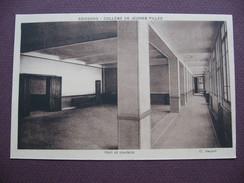 CPA SEPIA 02 SOISSONS COLLEGE De JEUNES FILLES Hall Et Couloirs ECOLE CLASSE MATERIEL - Soissons