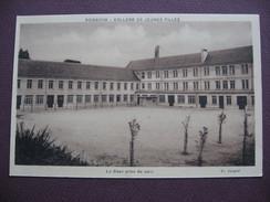 CPA SEPIA 02 SOISSONS COLLEGE De JEUNES FILLES La Cour Prise Du Parc ECOLE ; RARE PLAN ? - Soissons