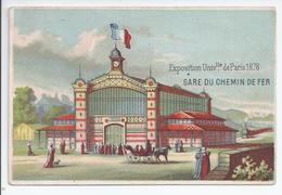 Chromo Exposition Universelle De Paris 1878 - Gare Du Chemin De Fer - R5037 - Autres