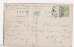 Japan British 1910 Exhibition Postmark On Postcard #8, B490 - Expositions