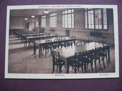 CPA SEPIA 02 SOISSONS COLLEGE De JEUNES FILLES Réfectoire MATERIEL MEUBLES TABLES ECOLE - Soissons