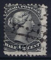 Canada: 1868  SG Nr 54  Used  Grey Black - Oblitérés