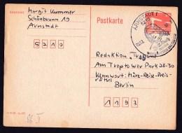 East Germany/GDR/DDR: Stationery Postcard, 1990, Cancel J.S. Bach Lived In Arnstadt, Music Composer (minor Damage) - [6] Oost-Duitsland
