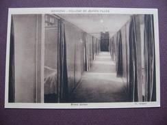 CPA SEPIA 02 SOISSONS COLLEGE De JEUNES FILLES Grand Dortoir Chambre MATERIEL ECOLE - Soissons