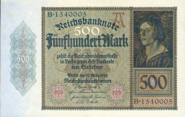 Deutschland, Germany - 500 Mark, Reichsbanknote, Ro. 70 , Serie A/B, 1922 ! - 1918-1933: Weimarer Republik