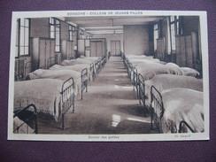 CPA SEPIA 02 SOISSONS COLLEGE De JEUNES FILLES Dortoir Des Petites Chambre Lits Lit MATERIEL ECOLE - Soissons