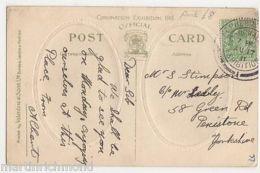 Shepherds Bush Coronation Exhibition 1911 Postmark On Postcard, B490 - Expositions