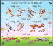 2003. Tajikistan, Sportiv Airplanes, S/s IMPERFORATED, Mint/** - Tadschikistan