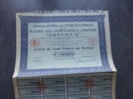 Omnium Central Fours électriques AMPLILUX,  Lot De  11 Actions De  100 F   ; Ref ACT A - Shareholdings