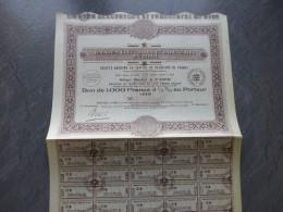 Omnium Electrique Et Indus Du MIDI,  Lot De  5 Bons De 1000 F    ; Ref ACT A - Shareholdings