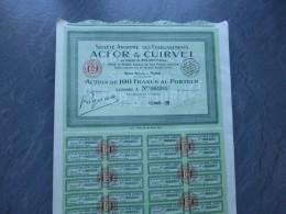 S.A. Etablissements ACFOR Et CUIRVET,  Lot De  5 Actions 1929    ; Ref ACT A - Shareholdings