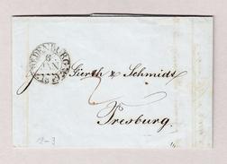 Ungarn Sopron OEDENBURG 6.1.1849 Vorphila Brief Nach Presburg (Bratislava) - ...-1867 Prephilately