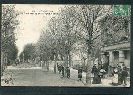 CPA - HOUILLES - La Poste Et La Rue Carnot, Bien Animé - Houilles