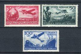 Rumanía 1948. Yvert A53-55  ** MNH. - Poste Aérienne