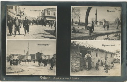Serbien Ansichten Aus Ueskub Macedonia   Feldpost Zigeunerviertel Tzigane Gypsies To Mekingen Thionville WWI 1917 - Serbie