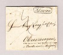 Österreich KLAUSEN Schwarz Umkreist 1839-07-04 Vorphila Brief Nach Oberamergau - Österreich