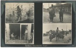 Serbien  Macedonia Types    Feldpost Zigeuner Tzigane Gypsies To Mekingen Thionville WWI 1917 - Serbia