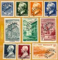 Monaco **LUXE 1943 Préoblitéré 1 à 10 Série 10v - Monaco