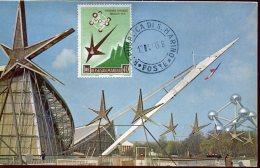 13966 San Marino,  Maximum 1959  World Exhibition Of Bruxelles 1958, Exposition Universelle De Brussel