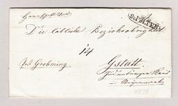Österreich St PÖLTEN Umkreist 27.01.1836 Vorphila Brief Nach Gstatt - Österreich