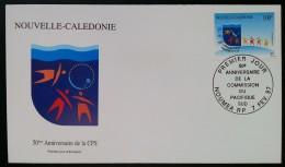 NOUVELLE-CALEDONIE - FDC 1997 - YT Aérien N°341 - CPS / COMMISSION DU PACIFIQUE SUD - NOUMEA - FDC