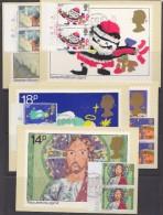 Great Britain 1981 Christmas  5v (pair)  5 Maxicards (32668) - Maximumkaarten