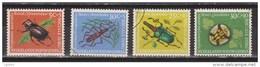 Nederlands Nieuw Guinea Dutch New Guinea 69 - 72 Used ; Sociale Zorg Kevers Op Planten 1961 - Niederländisch-Neuguinea