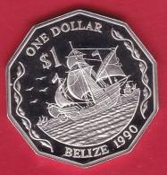Belize - 1 $ Argent 1990 - FDC - Belize