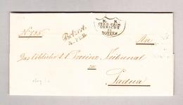 Italien Südtirol BOTZEN Schreibschriftstempel 4.7.1848 Gerishct Zu Botzen Stempel Vorphila Brief Nach Padova - Italien