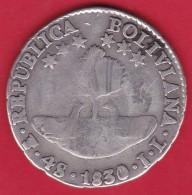 Bolivie - 4 Sols - Argent - 1830 - Bolivia