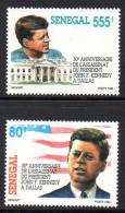 Senegal 1065/66 JF Kennedy , Drapeau USA , White House , Dallas