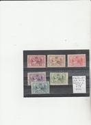 TIMBRES DE L ESPAGNE NR 236/41 */O  6 VALEURS 1907 D 11 1/2 EXPOSITION DE MADRID  COTE 52.50€ - 1889-1931 Royaume: Alphonse XIII