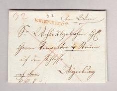 Östereich V.WIEN.RECOM Langstempel Rot Vorphila Brief - Österreich