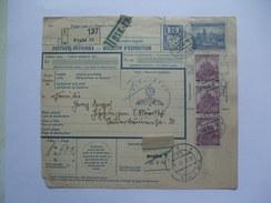 BOHEMIA AND MORAVIA BULLETIN D`EXPEDITION  PRAHA TO GOPPINGEN GERMANY 13th Nov. 1940 WITH FELDPOST GERMAN CACHET - Bohemia Y Moravia