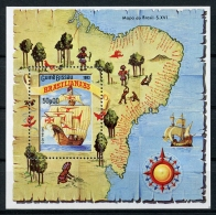 Guinea Bissau, 1983, Tall Ship, Map, Brasiliana Exhibition, MNH, Michel Block 253 - Guinea-Bissau