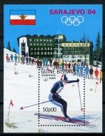 Guinea Bissau, 1984, Olympic Winter Games Sarajevo, Skiing, MNH, Michel Block 257 - Guinea-Bissau