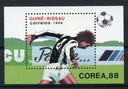 Guinea Bissau, 1988, Olympic Summer Games Seoul, Soccer, Football, Michel Block 271 - Guinea-Bissau
