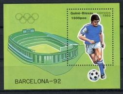Guinea Bissau, 1992, Olympic Summer Games Barcelona, Soccer, Football, Michel Block 277 - Guinea-Bissau
