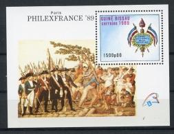 Guinea Bissau, 1989, French Revolution, Philexfrance Exhibition, MNH, Michel Block 279 - Guinea-Bissau