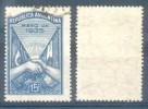 ARGENTINA  AÑO 1935 VISITA DEL PRESIDENTE DEL BRASIL DR. GETULIO VARGAS OFFSET TBE OBLITERE AZUL ECUSSON ESCUDO - Gebraucht